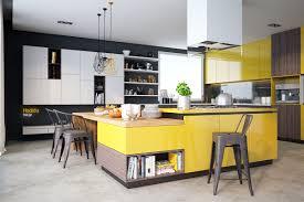 kitchen black white yellow kitchen with diamond lamps also large