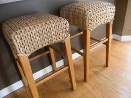 Bar Stool For Kitchen Island Tiny Wicker Hyacinth Plant Seagrass Backless Barstools For Grey