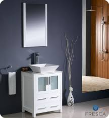 24 Inch Bathroom Vanity Combo by 24 U2033 Torino White Modern Bathroom Vanity W Vessel Sink Platinum Bath