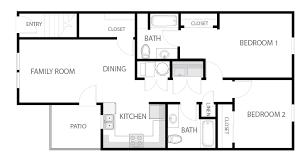 Two Bedroom Apartment Floor Plans Danville Apartments Floor Plans