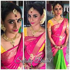 bridal makeup wedding makeup reception and party look sofistiq is an expert in diffe hairstyles and saree d this bridal makeup artist can