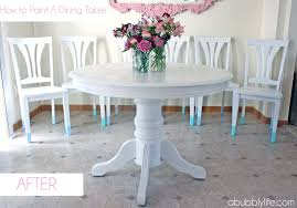 Chairs For Kitchen Table by A Bubbly Lifehow To Paint A Dining Room Table U0026 Chairs Makeover