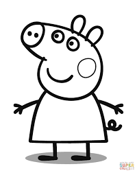 peppa pig coloring page colouring pages olegandreev me