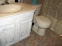 Shabby Chic Bathroom Vanity by Furniture White Wooden Shabby Bathroom Vanity With Round White