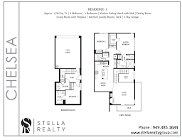 Central Park Floor Plan by Chelsea Central Park West Irvine Homes For Sale