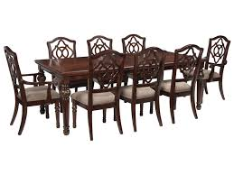 signature design by ashley leahlyn 9 piece rectangular dining signature design by ashley leahlyn 9 piece rectangular dining table set prime brothers furniture dining 7 or more piece set