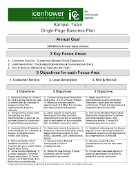 Recruiter Daily Planner Template The One Page Real Estate Business Plan