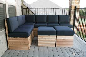 Building Outdoor Wood Furniture by Diy Modular Outdoor Seating Shanty 2 Chic