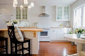 Green Tile Backsplash by Glass Subway Tile Kitchen Wooden Cabinet Built In Oven Cylinder