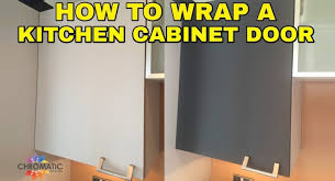 How To Paint Kitchen Cabinets Like A Pro How To Wrap A Kitchen Cabinet Door Diy Vinyl Wrapping Tutorial