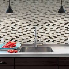 Tile For Backsplash In Kitchen Smart Tiles 9 10 In X 10 20 In Mosaic Peel And Stick Decorative