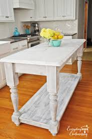 Used Kitchen Cabinets Craigslist Remodelaholic White Kitchen Overhaul With Diy Marble Island