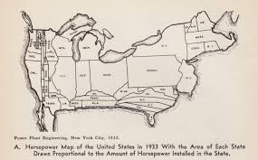 State Map United States by The Horsepower Map Of The United States Big Think