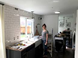 How To Put Backsplash In Kitchen Straight Herringbone Tile Backsplash Tutorial Create Enjoy