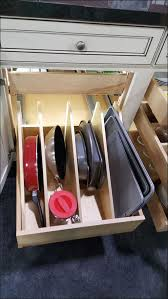kitchen roller shelves for kitchen cabinets pan organizer for