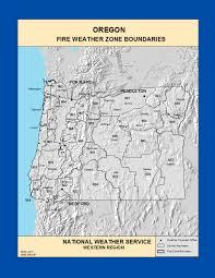 Newport Oregon Map by Maps Oregon Fire Weather Zone Boundaries