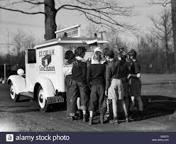 Vintage Ford Ice Cream Truck - good humor ice cream truck stock photos u0026 good humor ice cream