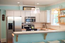 kitchen diy kitchen remodel with grey wall and wooden floor for