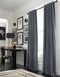 mode voor de ramen grey curtains office table and curtain ideas