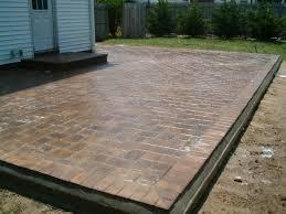 Backyard Cement Patio Ideas by Concrete Patio Paint Ideas Excellent Painting Concrete Patio