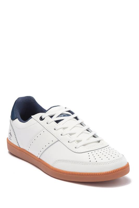Original Penguin Collin White Leather Low Top Lace Up Sneakers Shoes