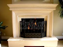 interior concrete fireplace mantels with cast iron and brown wall