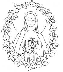 clip art our lady of guadalupe coloring page mycoloring free
