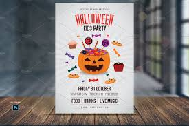halloween kids party flyer template flyer templates creative