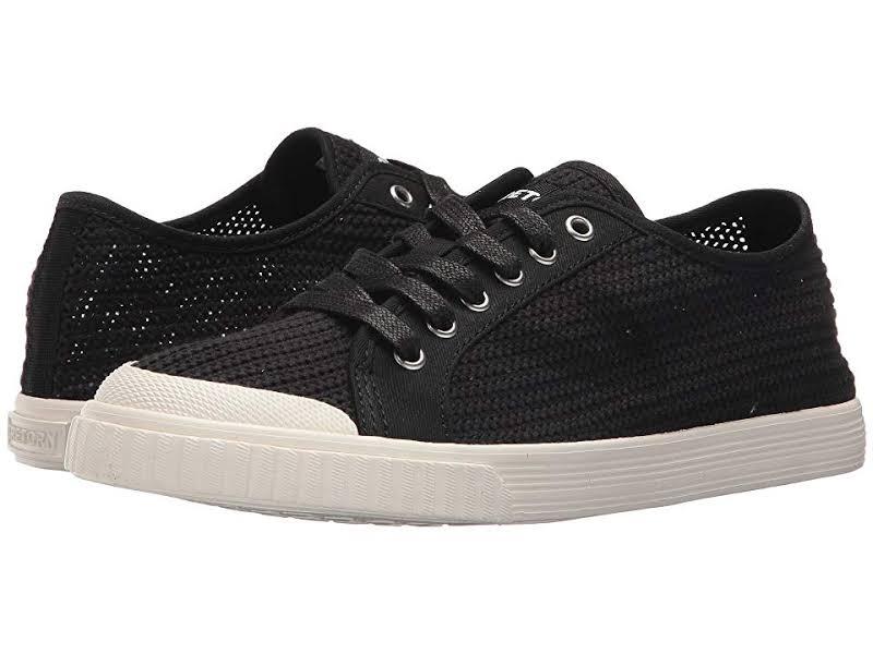 Tretorn Tournet Fabric Black / White Canvas Sneaker 9.5M