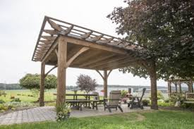 Timber Frame Pergola by Pergolas And Pavilions The Barn Raiser Quality Amish Built