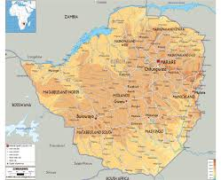 Physical Map Africa by Maps Of Zimbabwe Detailed Map Of Zimbabwe In English Tourist