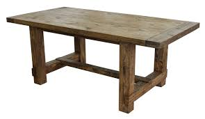 country reclaimed solid wood farmhouse dining table at gowfb ca
