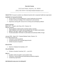 Moa Resume Sample by Assistant Resume Of A Medical Assistant