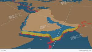 Tectonic Plate Map Arabian Tectonic Plate Solids Stock Animation 6635143