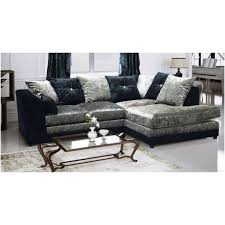 Cheap Corner Sofa Bed Cheap Sofa Uk Crystal Crushed Velvet Black And Silver Corner