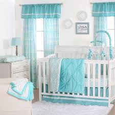 the peanut shell 4 piece baby crib bedding set teal blue