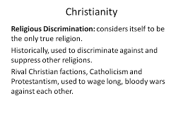 Religions and Discrimination A Summary  Homework    Religions help