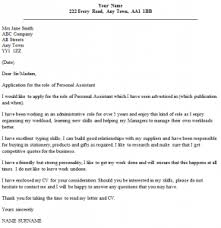 Personal Assistant Cover Letter Example   icover org uk icover org uk