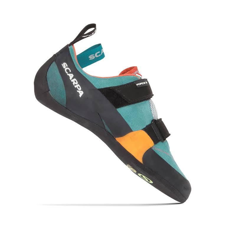 Scarpa Force V Climbing Shoes Ice Fall/Mandarin Red Medium 42 70018/002-IfallMred-42