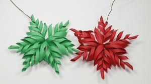 Home Made Decoration by 3d Snowflake Diy Tutorial How To Make 3d Paper Snowflakes For