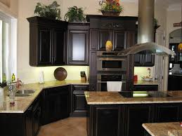 fabulus black theme with brown marble element countertop and great