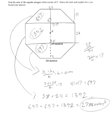 octagon area students are asked to find the area of a composite