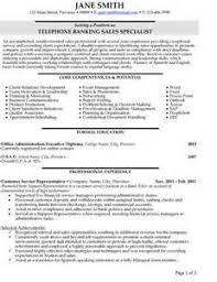 Banker Resume Example by Telephone Banking Resume Sample Send Resume In Pdf Format