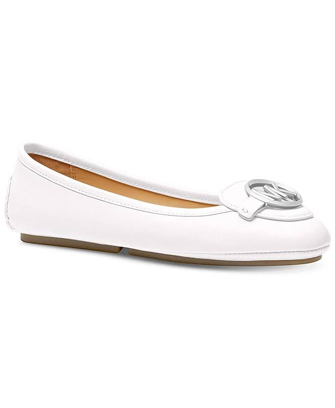 Michael Kors Lillie Moccasin Flats, Silver,