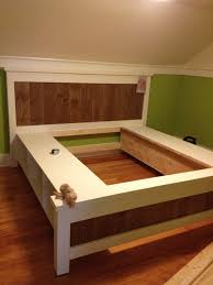 How To Build A Full Size Platform Bed With Drawers by Best 25 Queen Size Storage Bed Ideas On Pinterest Queen Storage