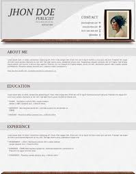 Modern Resume Templates Word  blank resume template word  citing