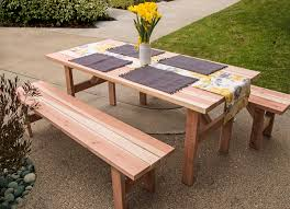 Building Plans For Picnic Table Bench by Diy Picnic Table And Benches Diy Done Right