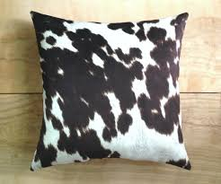 Cow Print Rugs Decor Indulge In The Sumptuous Feel Of Cowhide Pillows For Living