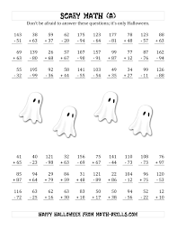 Addition Worksheets Pdf Scary Addition And Subtraction With Double Digit Numbers A
