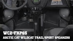 ssv works wc2 fkp65 installation speaker pods for arctic cat